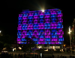 PERTH'S COUNCIL HOUSE LIGHTS UP